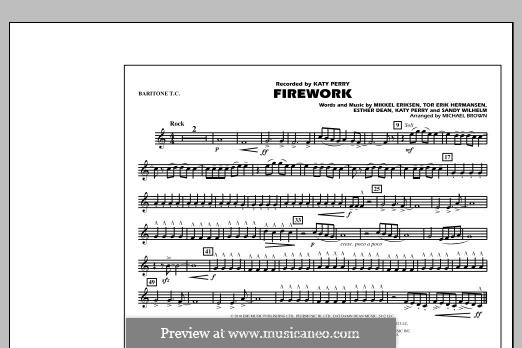 Firework (arr. Michael Brown): Baritone T.C. part by Esther Dean, Katy Perry, Mikkel Storleer Eriksen, Sandy Wilhelm, Tor Erik Hermansen