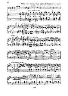 Čertova stěna (The Devil's Wall), T.129: Act III. Pekelný tanec for piano by Bedřich Smetana