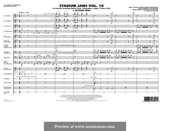 Stadium Jams Vol.10: Conductor score (full score) by Jeff Bhasker, Mark Ronson, Bruno Mars, Philip Lawrence, Devon Gallaspy, Nicholaus Williams