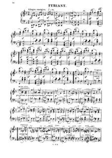 Three Dances: Furiant, for piano by Bedřich Smetana