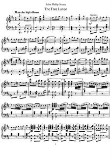 The Free Lance: Para Piano by John Philip Sousa