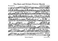 Stars and Stripes Forever : partes by John Philip Sousa