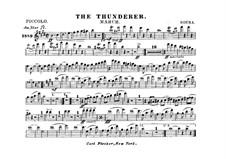 Thunderer: partes by John Philip Sousa