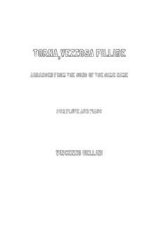 Torna, vezzosa fillide: para flauta e piano by Vincenzo Bellini