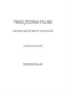 Torna, vezzosa fillide: para Violoncelo e piano by Vincenzo Bellini