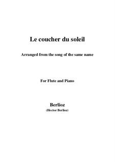 Le coucher du soleil, H.38: para flauta e piano by Hector Berlioz