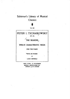 Complete Cycle: For a single performer by Pyotr Tchaikovsky