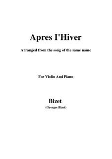 Apres l'Hiver: para violino by Georges Bizet