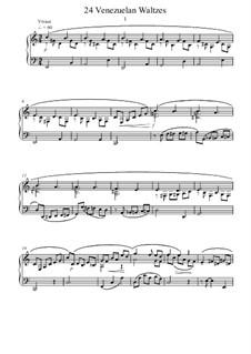 24 Venezuelan Waltzes: 24 Venezuelan Waltzes by Michael Regan