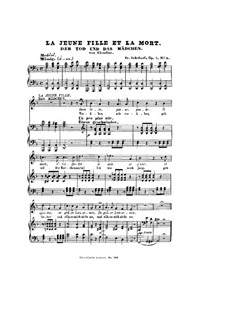 Death and the Maiden, D.531 Op.7 No.3: Partitura piano-vocal by Franz Schubert