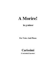 A morire: G minor by Giacomo Carissimi