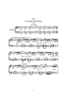 La forza del destino: Partitura Piano-vocal by Giuseppe Verdi