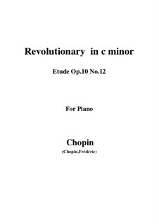 No.12 in C Minor: Para Piano by Frédéric Chopin