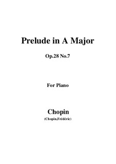 No.7 in A Major: Para Piano by Frédéric Chopin