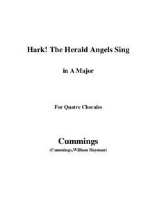 Piano-vocal score: For quatre chorales (A Major) by Felix Mendelssohn-Bartholdy