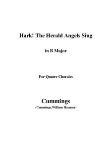 Piano-vocal score: For quatre chorales (B Major) by Felix Mendelssohn-Bartholdy