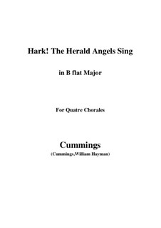 Piano-vocal score: For quatre chorales (B flat Major) by Felix Mendelssohn-Bartholdy