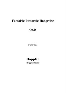Hungarian Pastoral Fantasia, Op.26: parte flauta by Franz Doppler