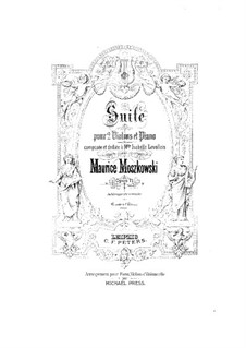 Suite for Two Violins and Piano, Op.71: Partitura completa by Moritz Moszkowski