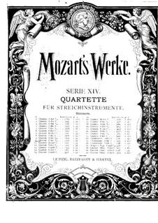 String Quartet No.10 in C Major, K.170: violino parte I by Wolfgang Amadeus Mozart