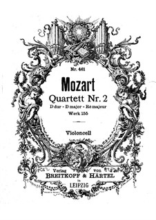 String Quartet No.2 in D Major, K.155: parte violoncelo by Wolfgang Amadeus Mozart