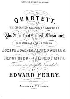 String Quartet in G Major: violino parte I by Edward Baxter Perry