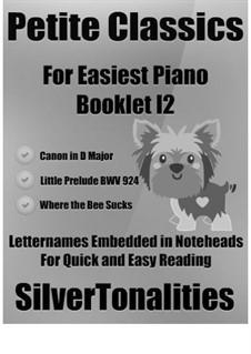 Petite Classics for Easiest Piano Booklet I2: Petite Classics for Easiest Piano Booklet I2 by Johann Sebastian Bach, Thomas Augustine Arne, Johann Pachelbel