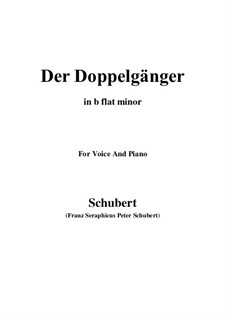 No.13 Der Doppelgänger (The Double): For voice and piano (b flat minor) by Franz Schubert