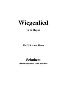 Wiegenlied (Cradle Song), D.498 Op.98 No.2: Para voz e piano (G maior) by Franz Schubert