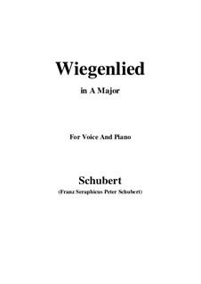 Wiegenlied (Cradle Song), D.498 Op.98 No.2: para voz e piano ( A maior) by Franz Schubert