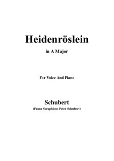 Heidenröslein (Little Hedge Rose), D.257 Op.3 No.3: para voz e piano ( A maior) by Franz Schubert