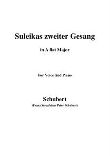 Suleika II, D.717 Op.31: para voz e piano (A flat maior) by Franz Schubert