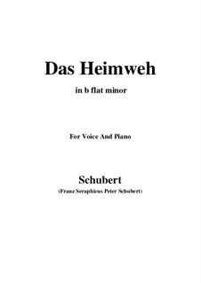 Das Heimweh, D.851 Op.79 No.1: For voice and piano (b flat minor) by Franz Schubert