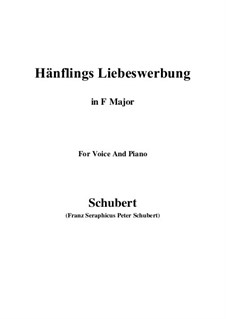 Hänflings Liebeswerbung (The Linnet's Wooing), D.552 Op.20 No.3: Para voz e piano (F maior) by Franz Schubert