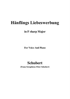Hänflings Liebeswerbung (The Linnet's Wooing), D.552 Op.20 No.3: For voice and piano (F sharp Major) by Franz Schubert