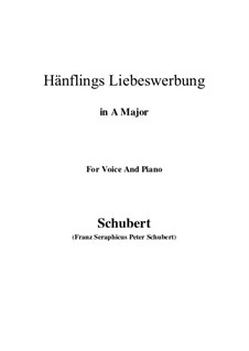 Hänflings Liebeswerbung (The Linnet's Wooing), D.552 Op.20 No.3: para voz e piano ( A maior) by Franz Schubert