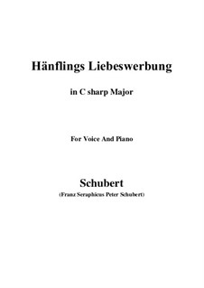 Hänflings Liebeswerbung (The Linnet's Wooing), D.552 Op.20 No.3: For voice and piano (C sharp Major) by Franz Schubert