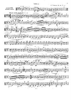 Three String Quartets, Op.41: Quartet No.3 – viola part by Robert Schumann
