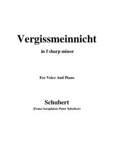 Vergissmeinnicht (Forget-Me-Not), D.792: F sharp minor by Franz Schubert