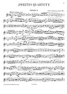 Three String Quartets, Op.41: Quartet No.2 – violin I part by Robert Schumann