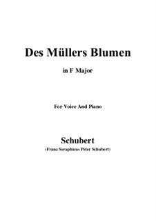 No.9 Des Müllers Blumen (The Miller's Flowers): Para voz e piano (F maior) by Franz Schubert
