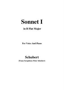 Sonnet No.1 in B Flat Major, D.628: para voz e piano em B flat Maior) by Franz Schubert