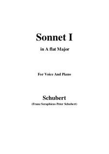 Sonnet No.1 in B Flat Major, D.628: para voz e piano (A flat maior) by Franz Schubert