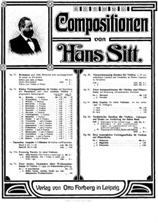 Polonaise for Violin and Piano, Op.94 No.3: Score by Hans Sitt
