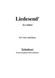 Liedesend, D.473: E minor by Franz Schubert