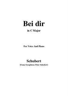 Vier Refrain-Lieder, D.866 Op.95: No.2 Bei dir allein (C Major) by Franz Schubert