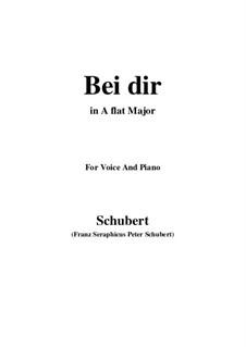 Vier Refrain-Lieder, D.866 Op.95: No.2 Bei dir allein (A flat Major) by Franz Schubert