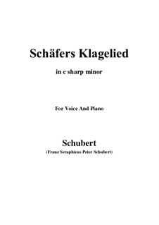 Shepherd's Lament, D.121 Op.3 No.1: For voice and piano (c sharp minor) by Franz Schubert