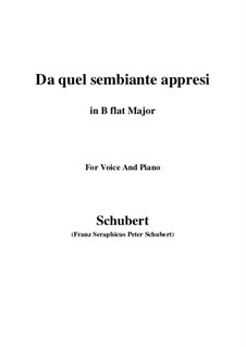Four Canzones for Voice and Piano, D.688: No.3 Da quel sembiante appresi (B flat Major) by Franz Schubert