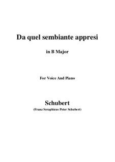 Four Canzones for Voice and Piano, D.688: No.3 Da quel sembiante appresi (B Major) by Franz Schubert
